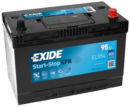 Аккумулятор Exide Start-Stop EFB 95Ah 800A R+ Asia EL954 на авто купить по цене 4 109 грн. в Днепре - Forse