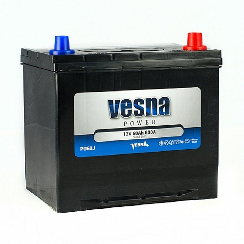 Аккумулятор Vesna Power 60Ah 600A R+ Asia